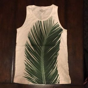 J crew palm leaf tank top